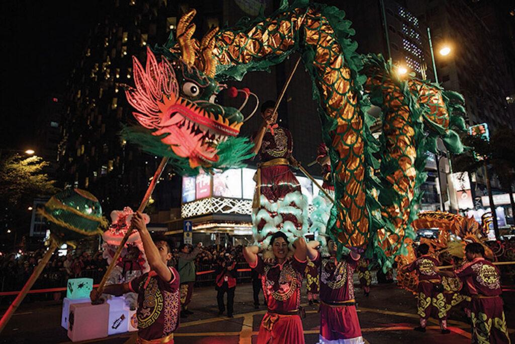 Dragon, New Year's Celebrations.