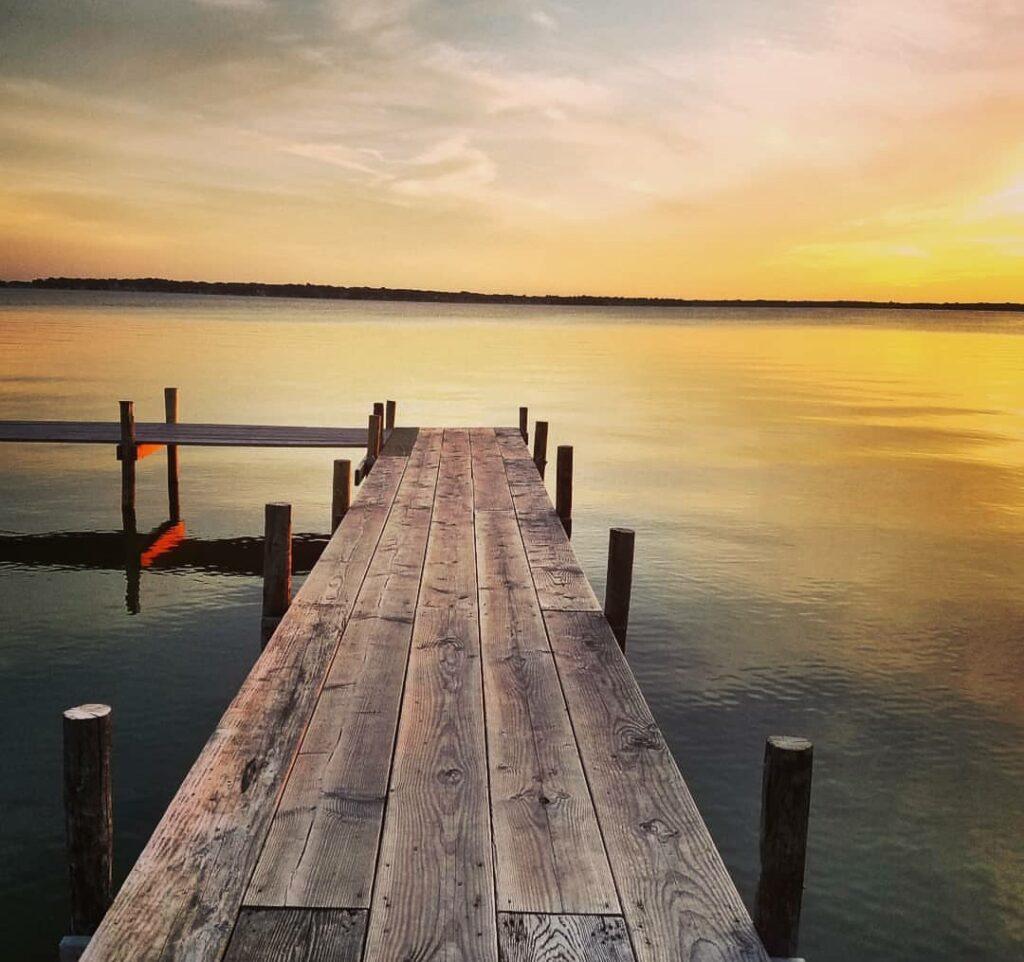 Sunset over Clear Lake, IA.