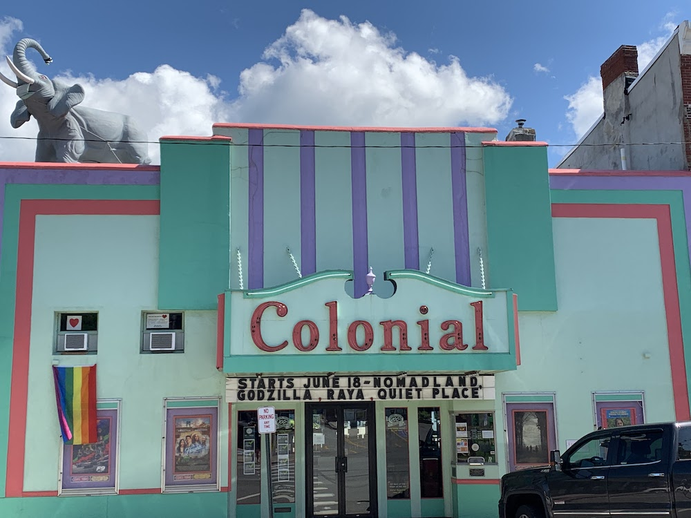 Exterior of Colonial Theater in Belfast, Maine