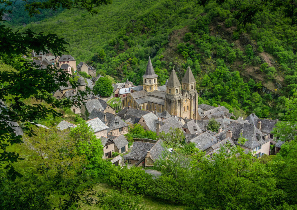 Conques, from above