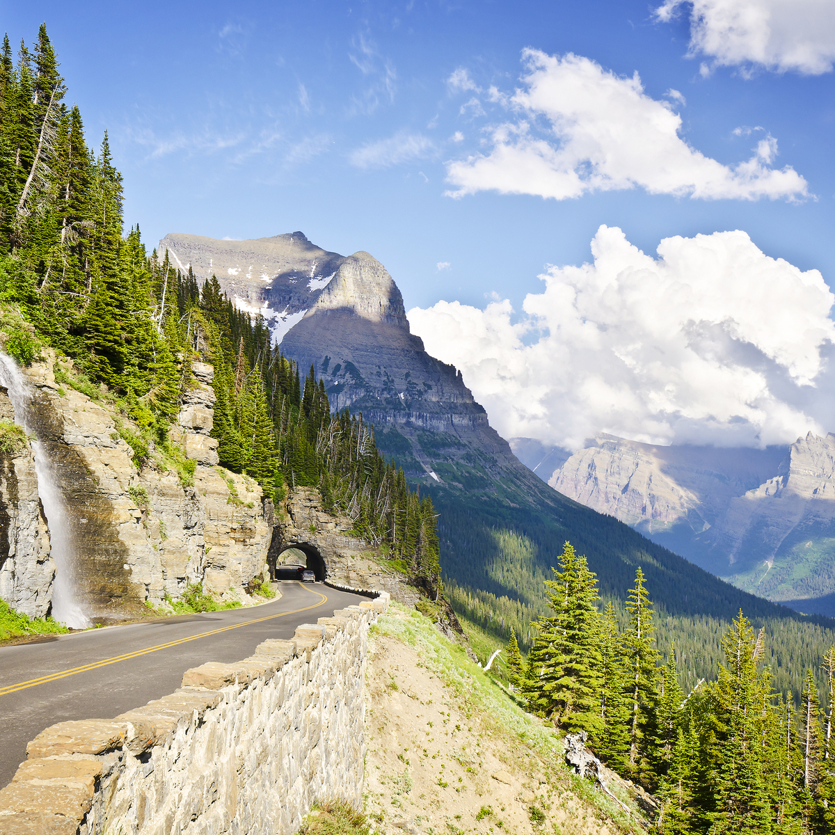 A view from Going to the Sun Road at Glacier National Park