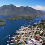 Aerial of Tofino, Vancouver Island