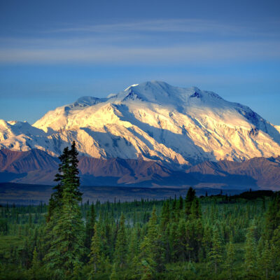 Great Denali (Mt. McKinley), Denali National Park and Preserve, Alaska.