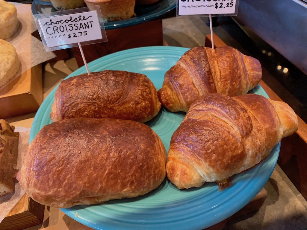 Croissant in France, one of the tastiest pastries in Europe.