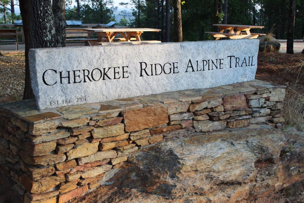 The impressive Cherokee Ridge Alpine Trail trailhead.