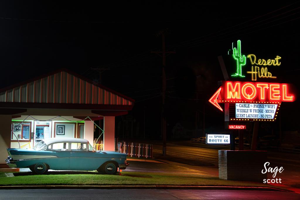 Desert Hills Motel, Route 66, Tulsa, Oklahoma.