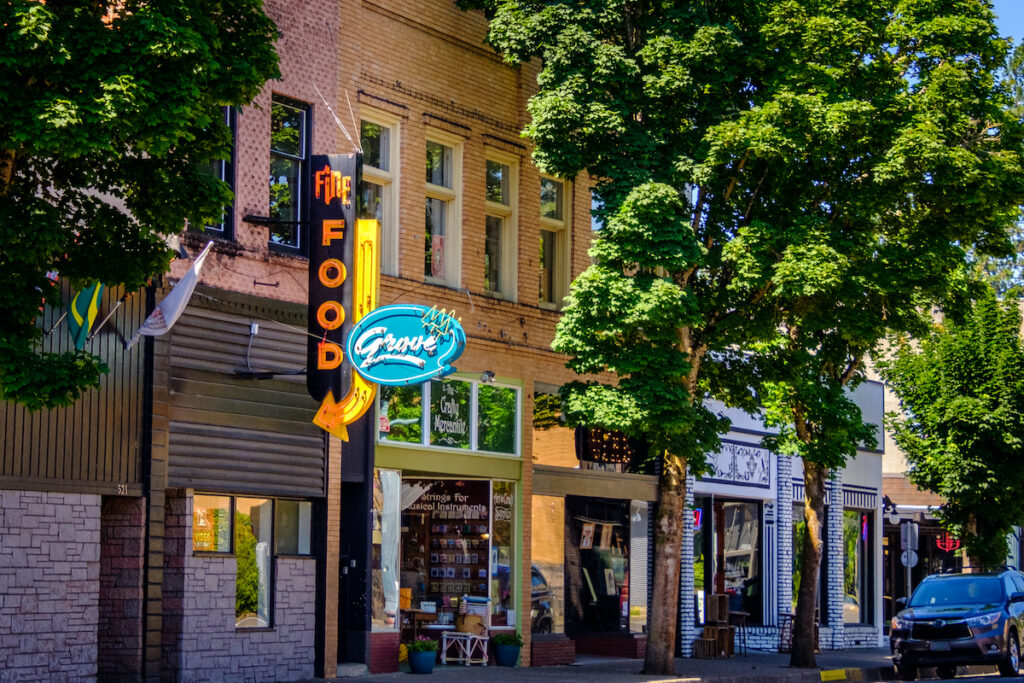 Downtown Cottage Grove, Oregon.