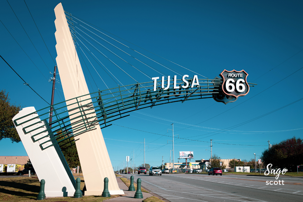 East Gateway Arch, Route 66, Tulsa, Oklahoma.