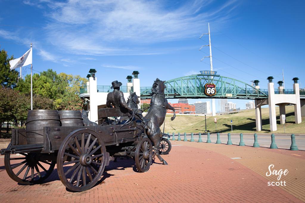 Cyrus Avery Centennial Plaza, Tulsa, Oklahoma.