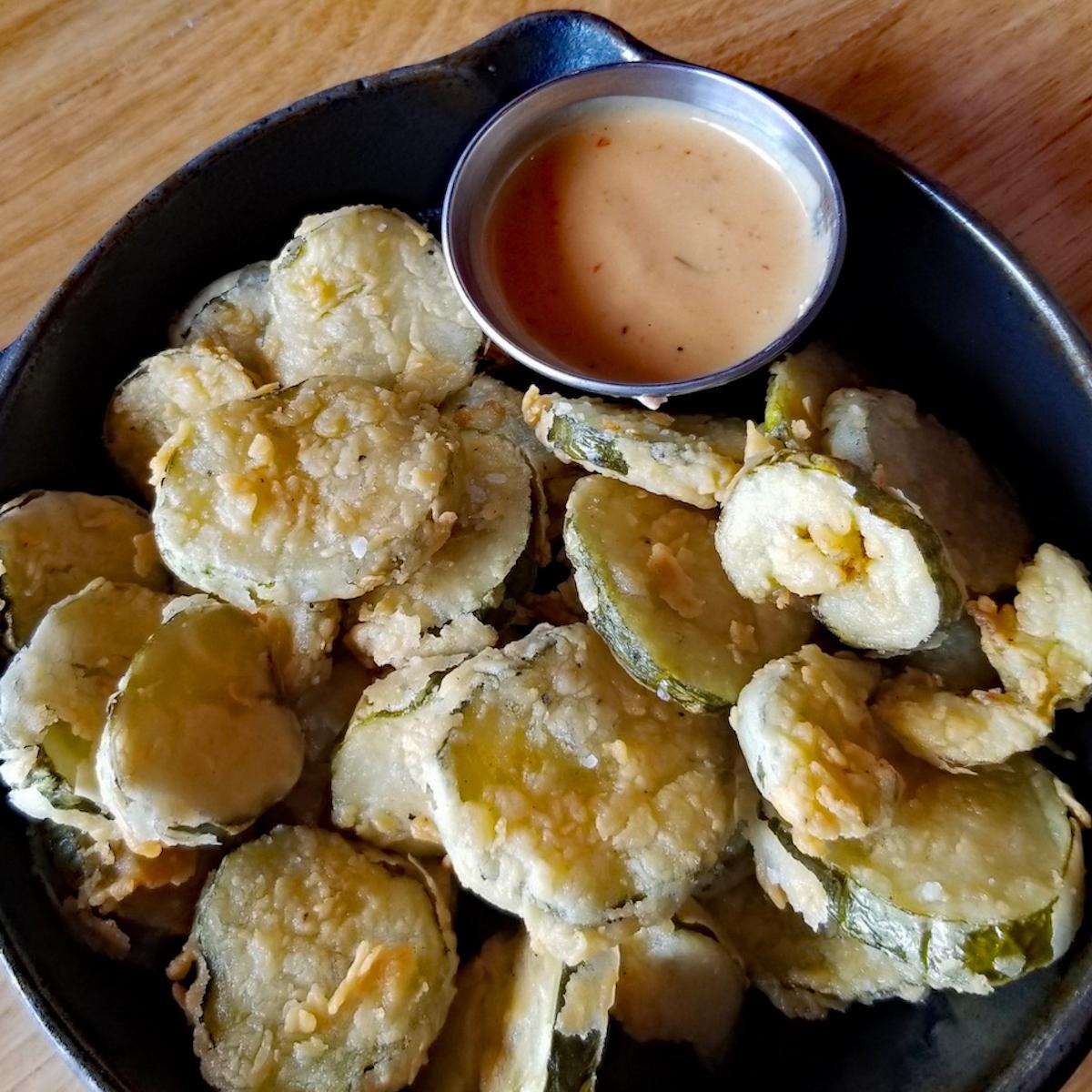 Fried pickles at Eastside Tavern