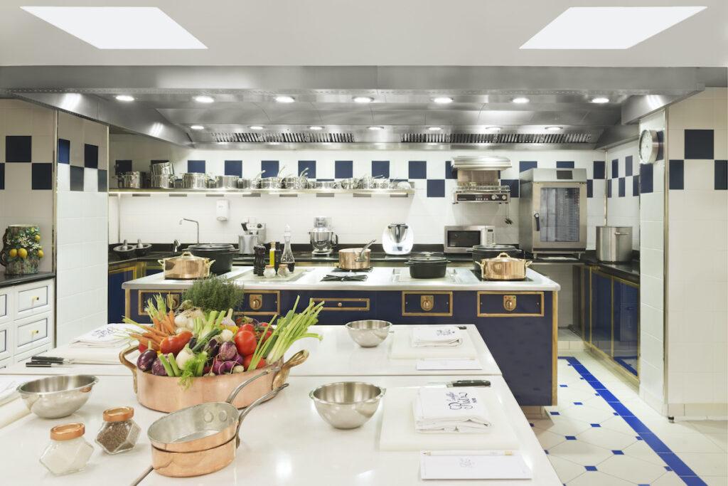 Ritz Hotel's, Ecole Ritz Escoffier kitchen.