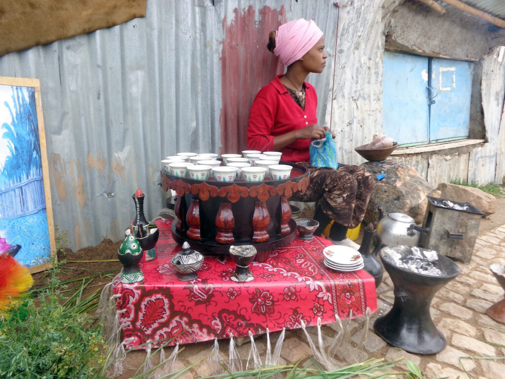 Coffee for sale in Ethiopia.