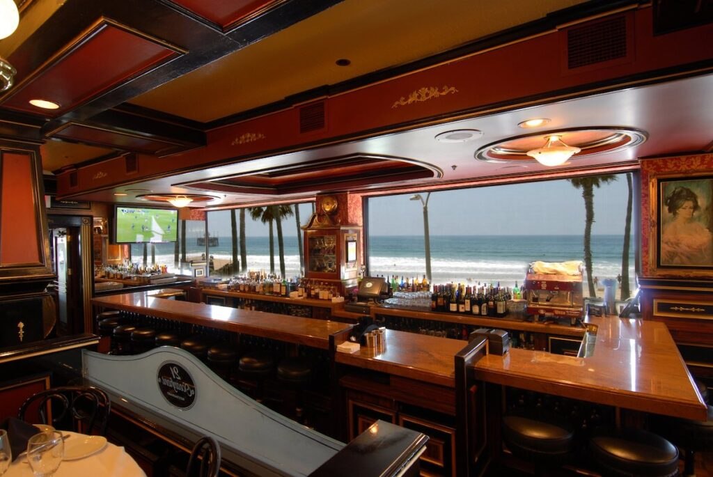 The bar at 21 Oceanfront.