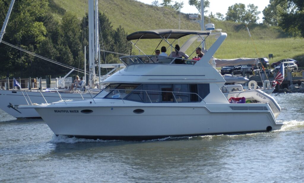 32' Carver Voyager charter yacht from GetMyBoat available in Saugatuck