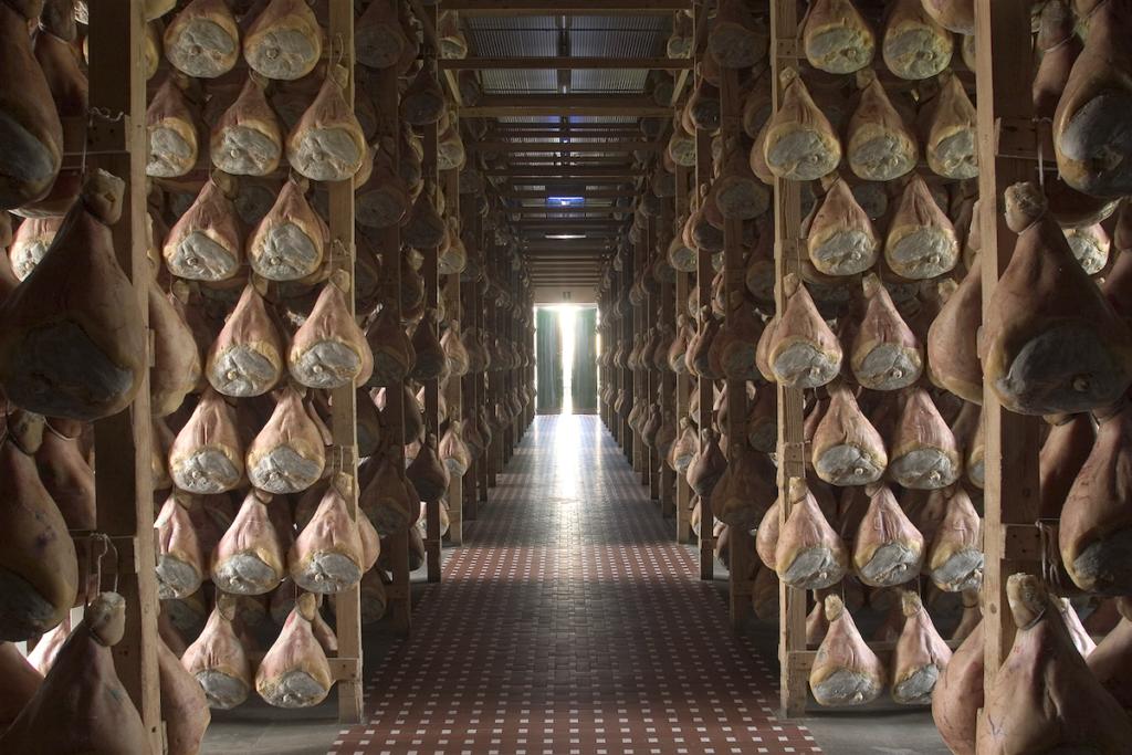 Hall of Parma Hams curing