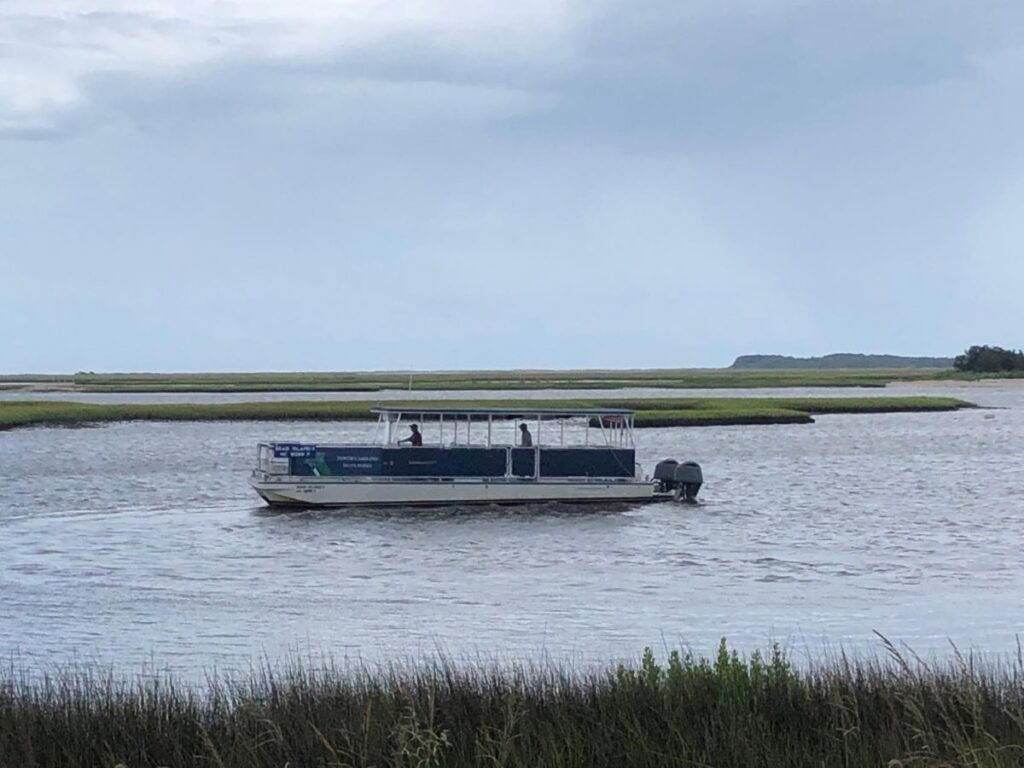 The ferry to and from Hammocks Beach State Park near Jacksonville, North Carolina.