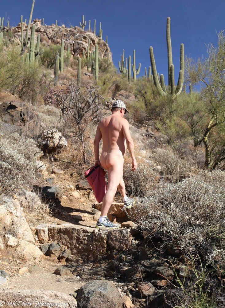 Naturist hiking.
