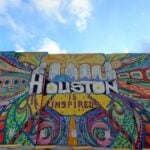 Houston Is Inspired Mural in downtown Houston