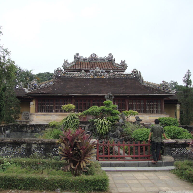 Dragons on the roof of Imperial Citadel, Hue, Vietnam