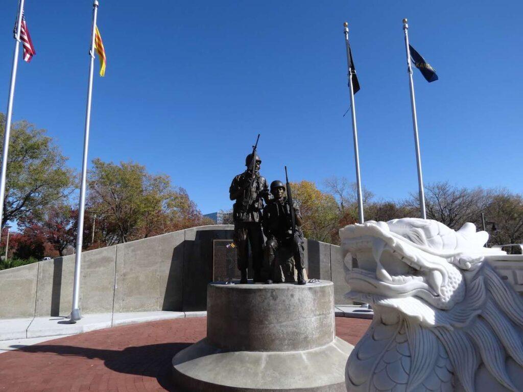 Vietnamese American Community Memorial, Veterans Memorial Park, Wichita, Kansas.
