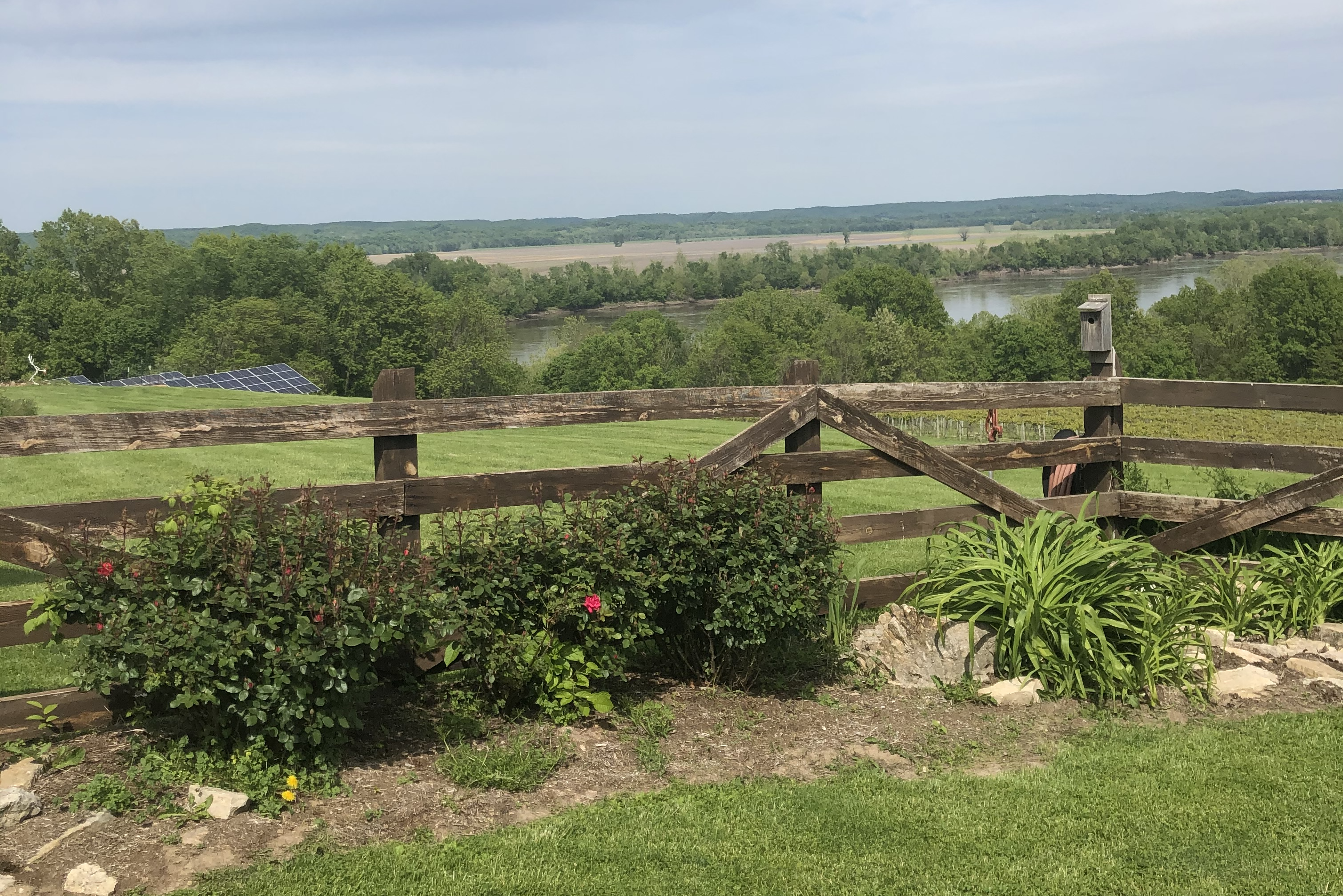 View from winery in Hermann, MO