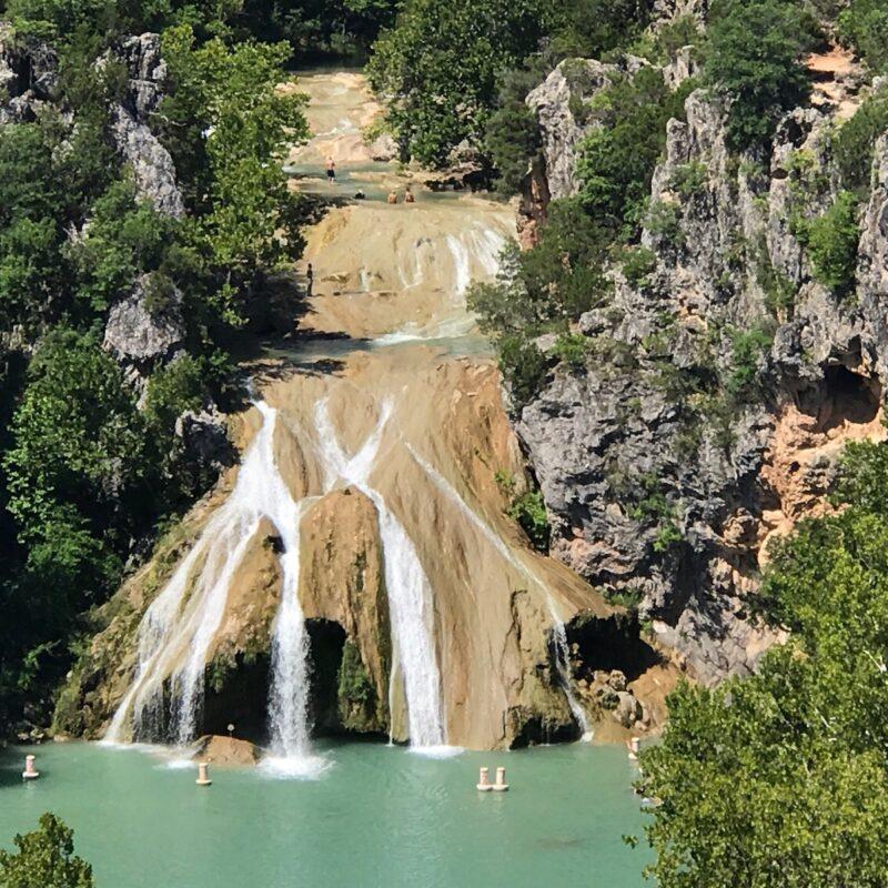 Turner Falls Park in Davis, Oklahoma.