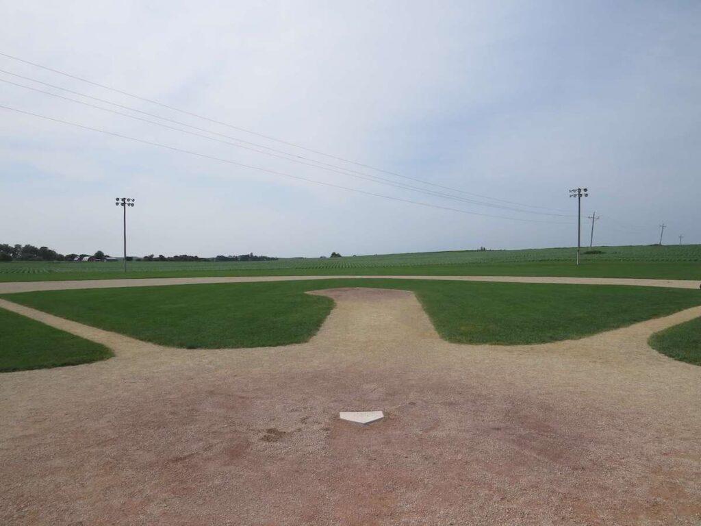 Field Of Dreams Movie Site with short corn, Dyersville, Iowa.