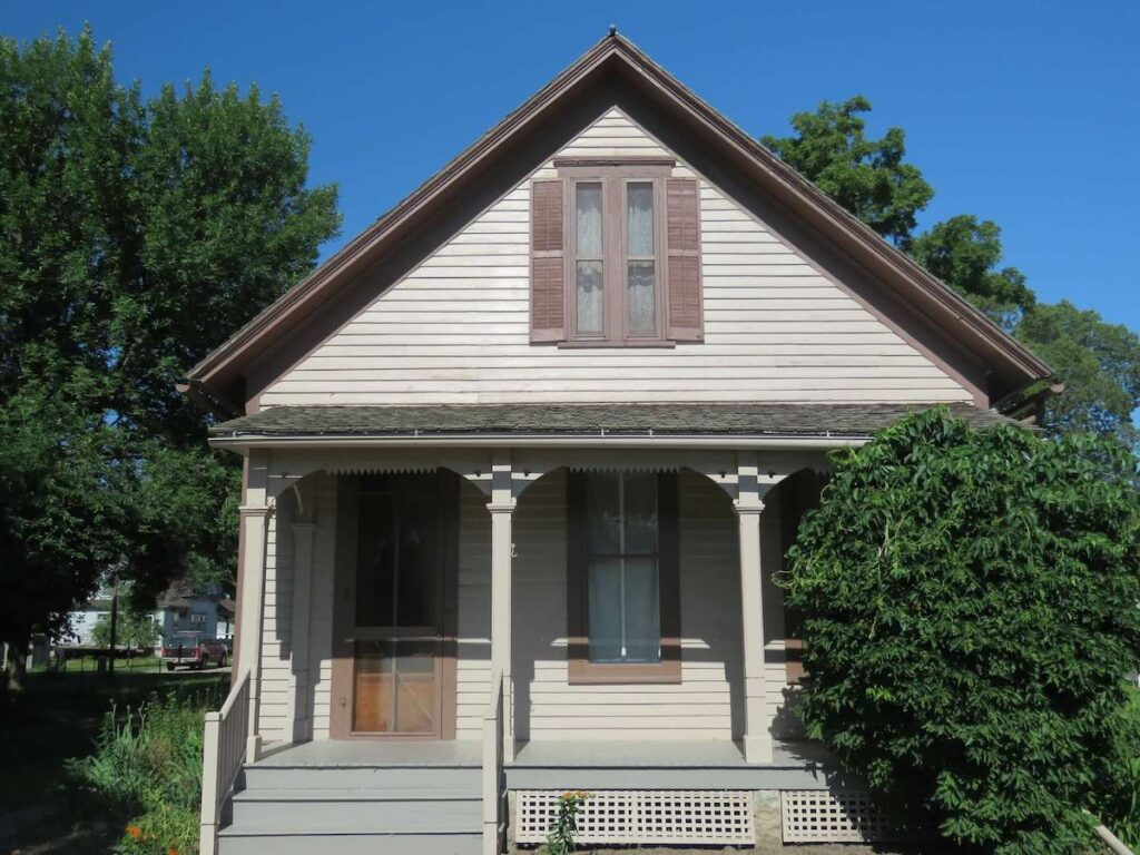Willa Cather's childhood home in Red Cloud, Nebraska.