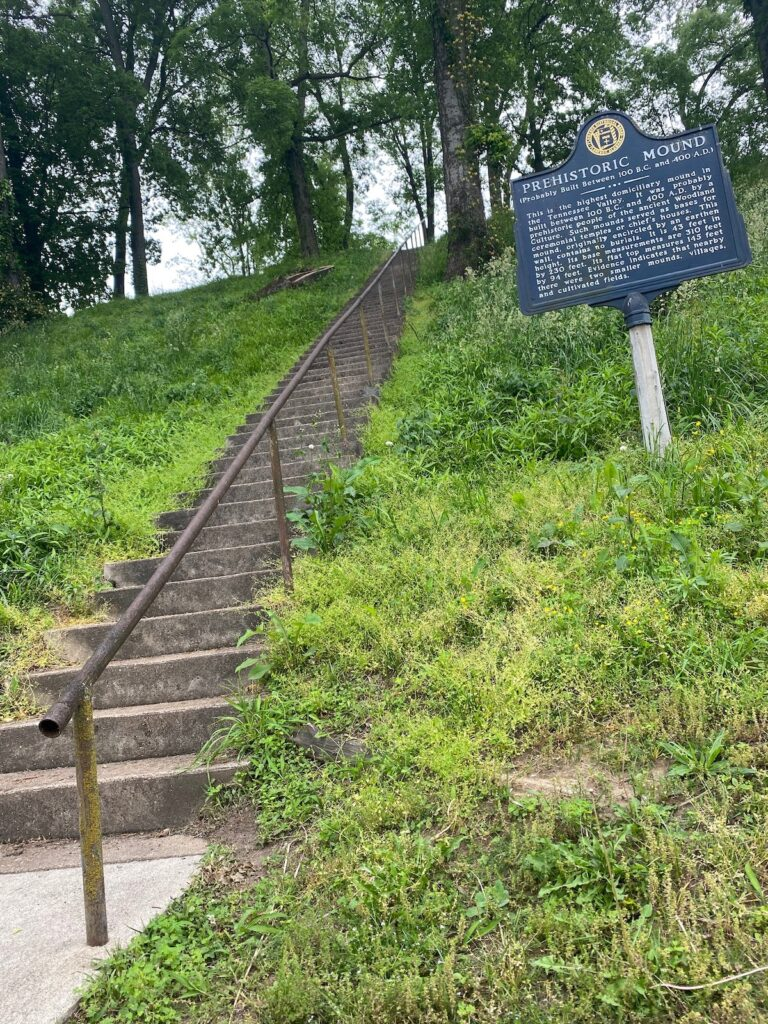 Pre-historic Native American mound.
