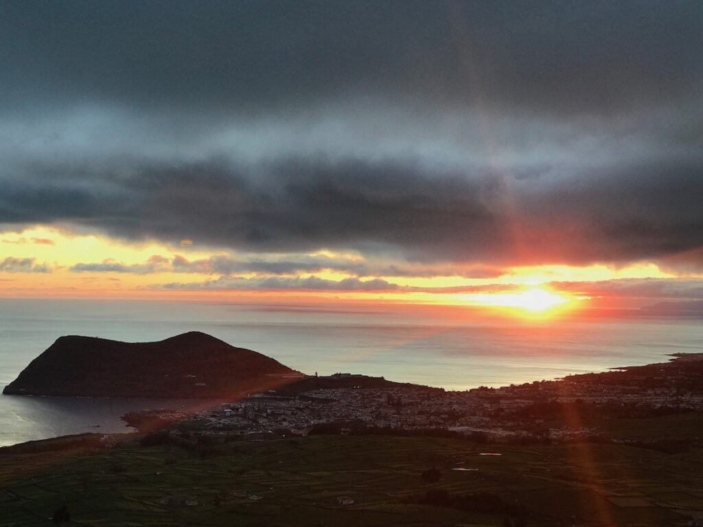 Sunset in the Azores.
