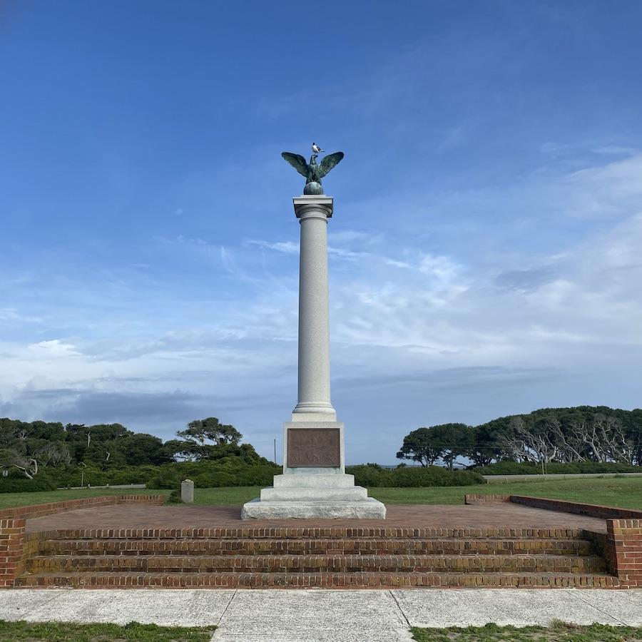 Fort Fisher Confederate Monument at Kure Beach, North Carolina.