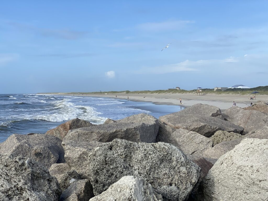 The beautiful beach at Fort Fisher State Recreation Area.