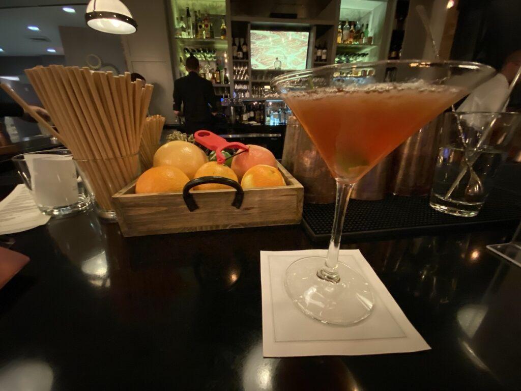 Cocktails at the Workshop Lounge.
