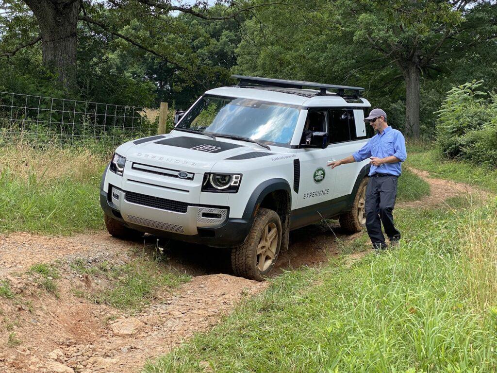 A Land Rover tour at the estate.