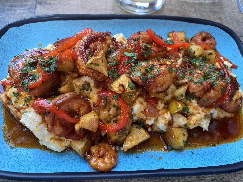 Loaded shrimp and grits.