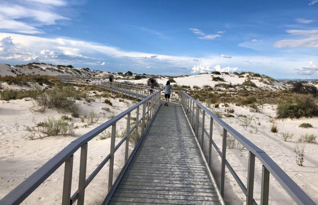 Interdune Boardwalk, White Sands National Park, New Mexico.
