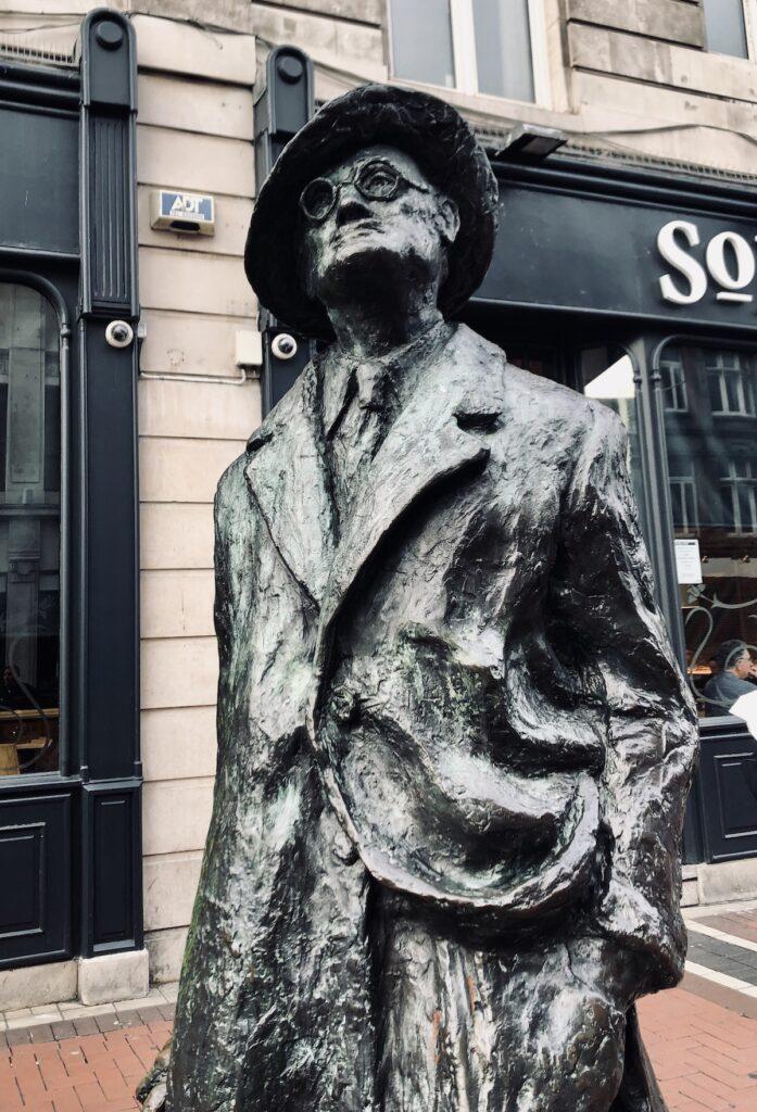 James Joyce Statue.