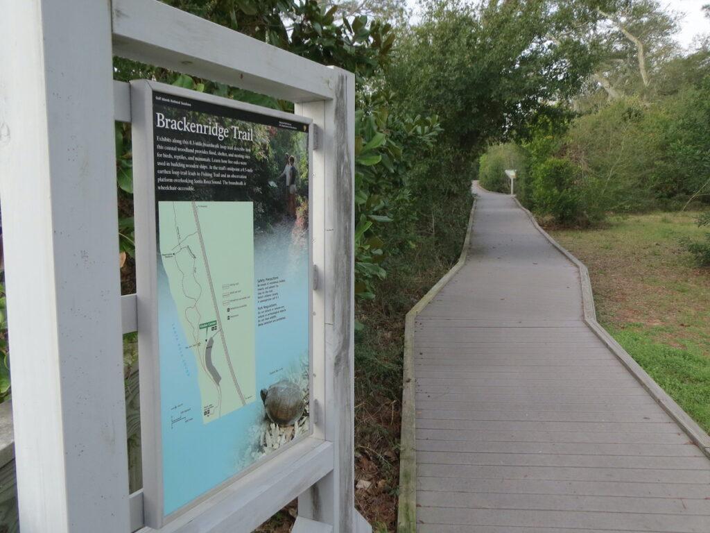 ADA accessible Brackenridge Nature Trail at Naval Live Oaks