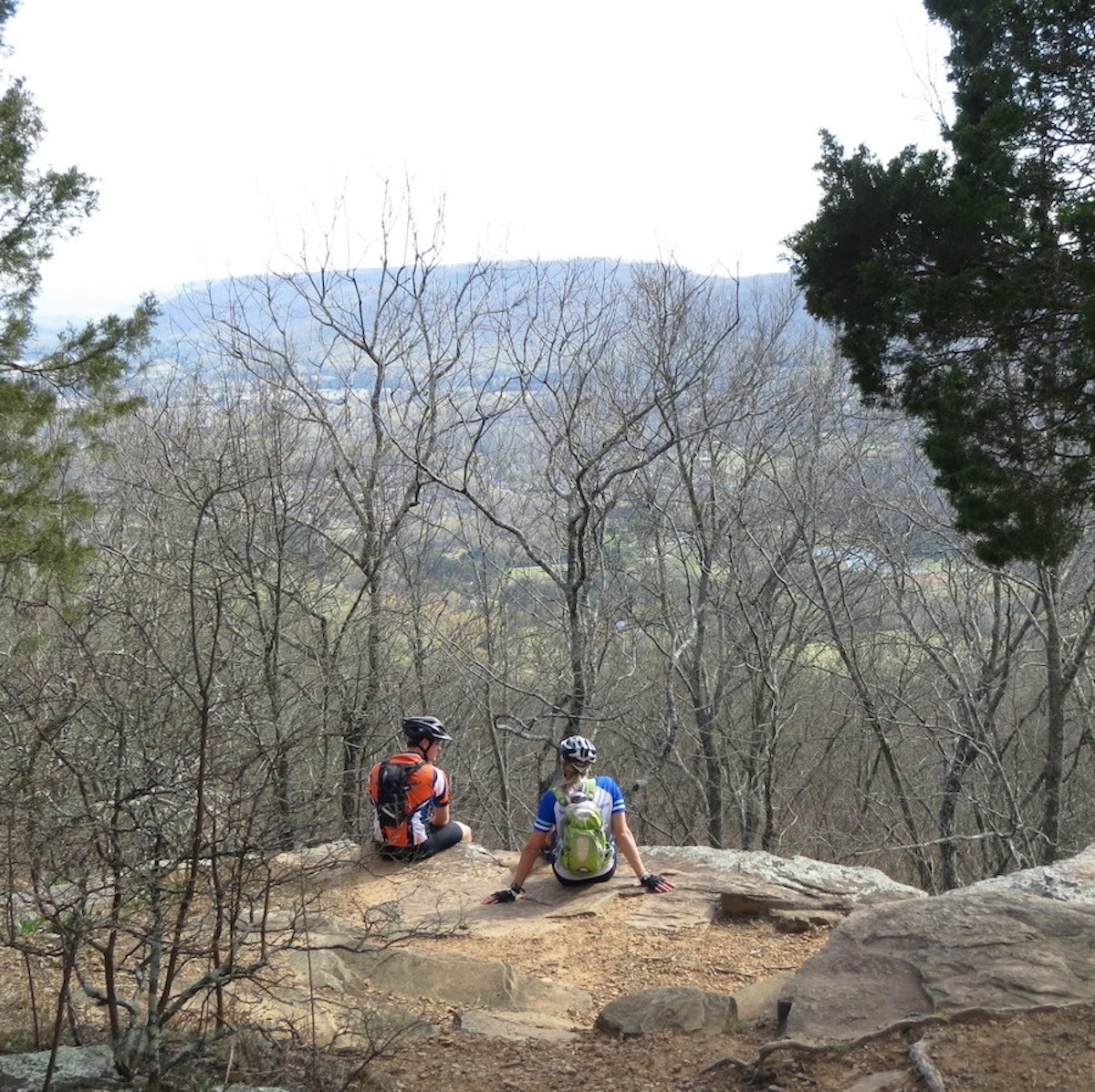 The view from O'Shaughnessy Point, Monte Sano State Park.