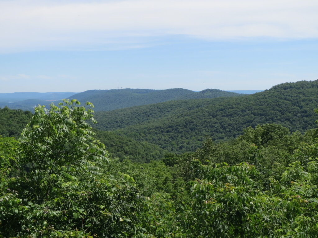 Spektakulær utsikt over Huntsville-fjellene fra platussyklusen i Monte Sano State Park.