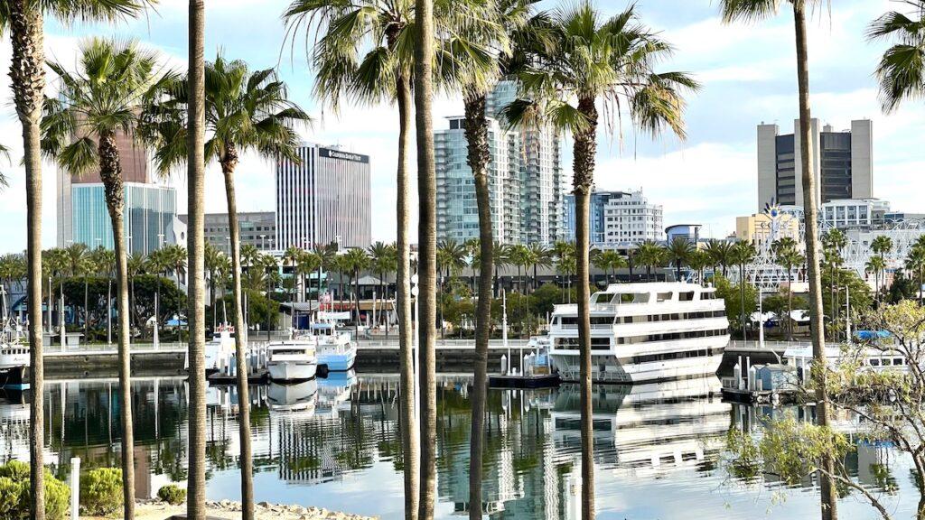 Long Beach Rainbow Harbor View.