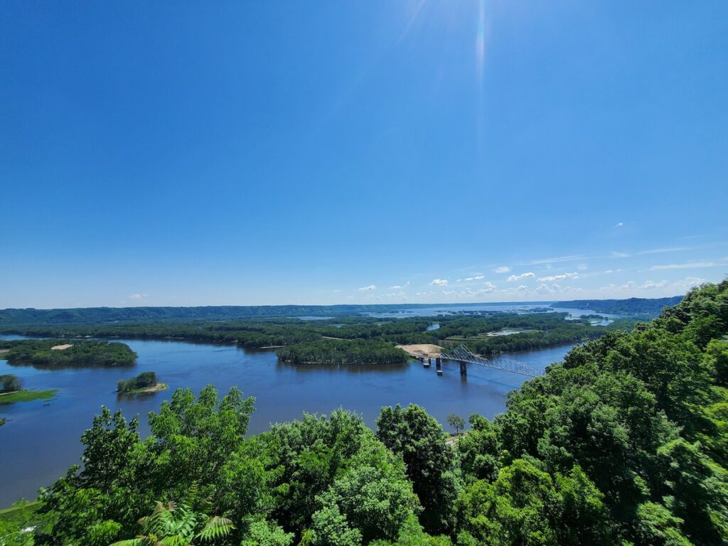 Mississippi River View from Mt. Hosmer: Lansing, IA.