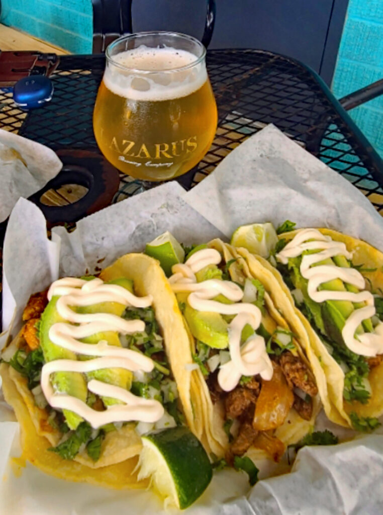 Tacos and craft ale at Lazarus Brewing in Austin, Texas.