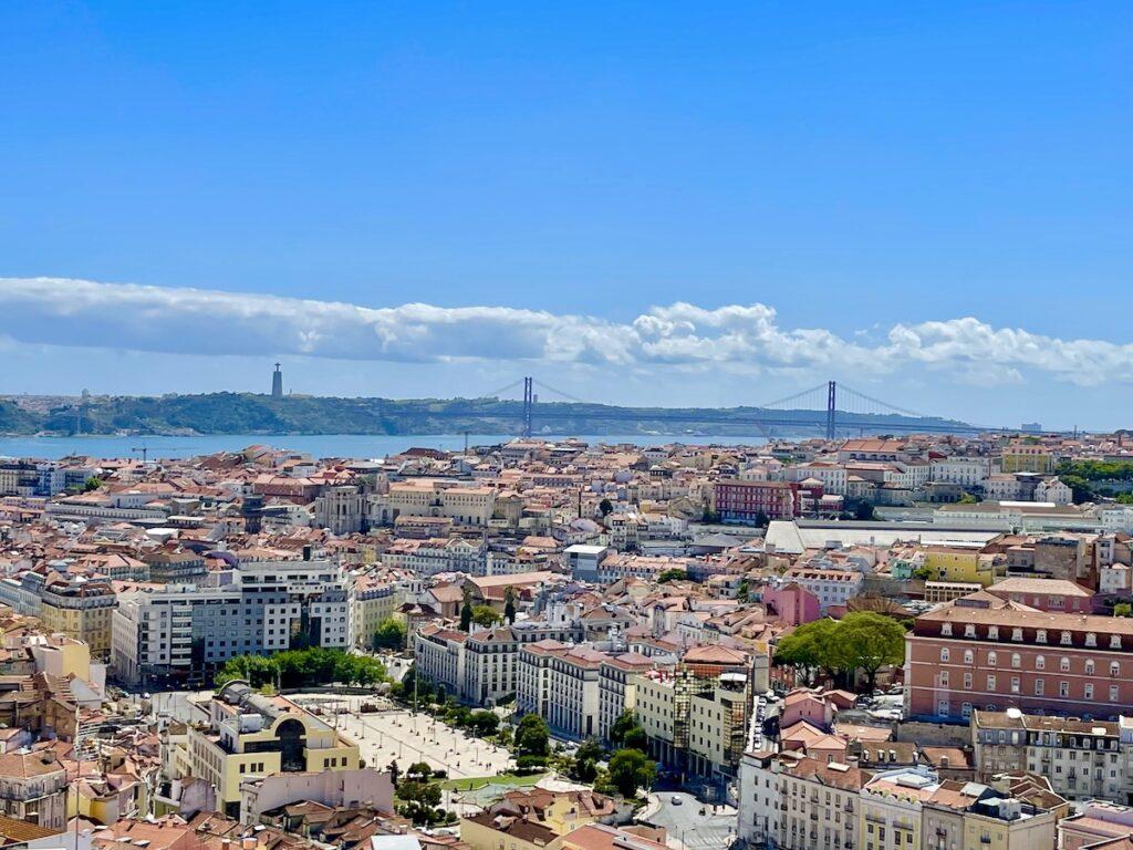 Lisbon, Portugal, skyline on a bright day.