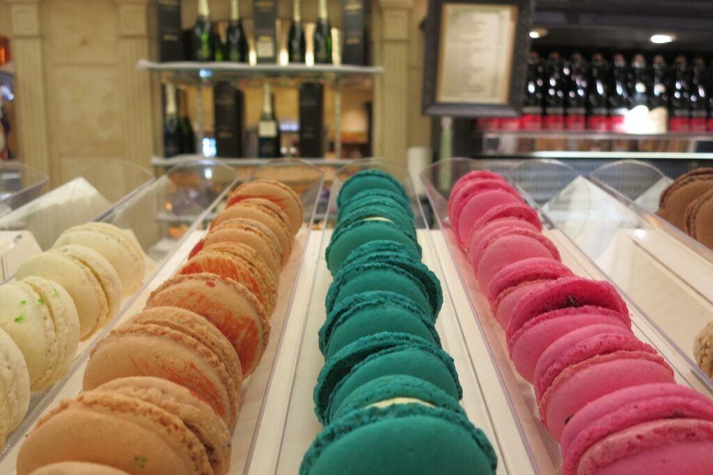 Macarons (of France), one of Europe's tastiest pastries.