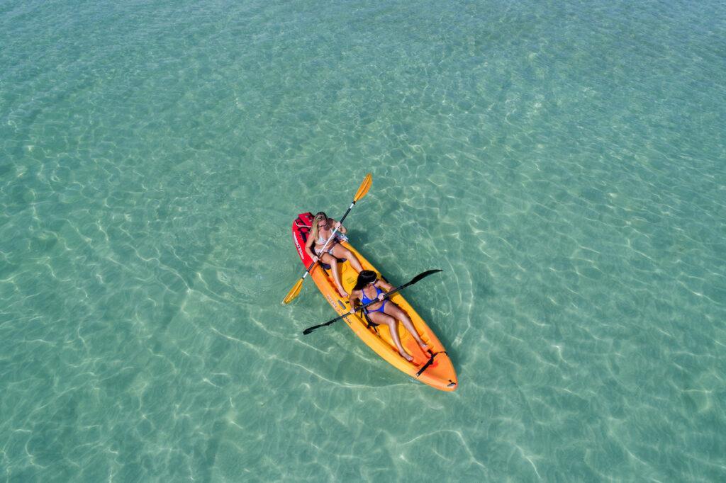 Women kayaking in the Florida Keys.