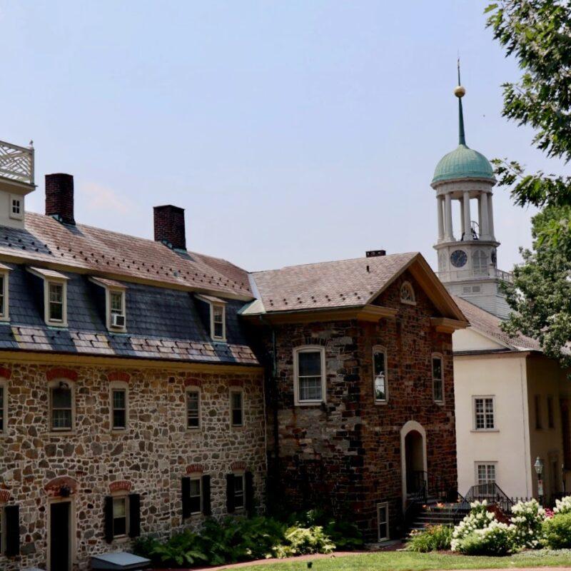 Moravian Sites in Bethlehem, Central Moravian Church in Background