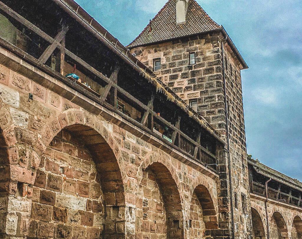 Medieval wall in Nuremburg.