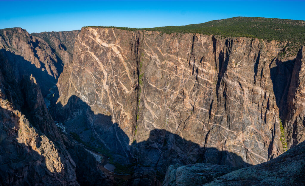 Painted Wall, Black Canyon of the Gunnison N. P., Colorado.