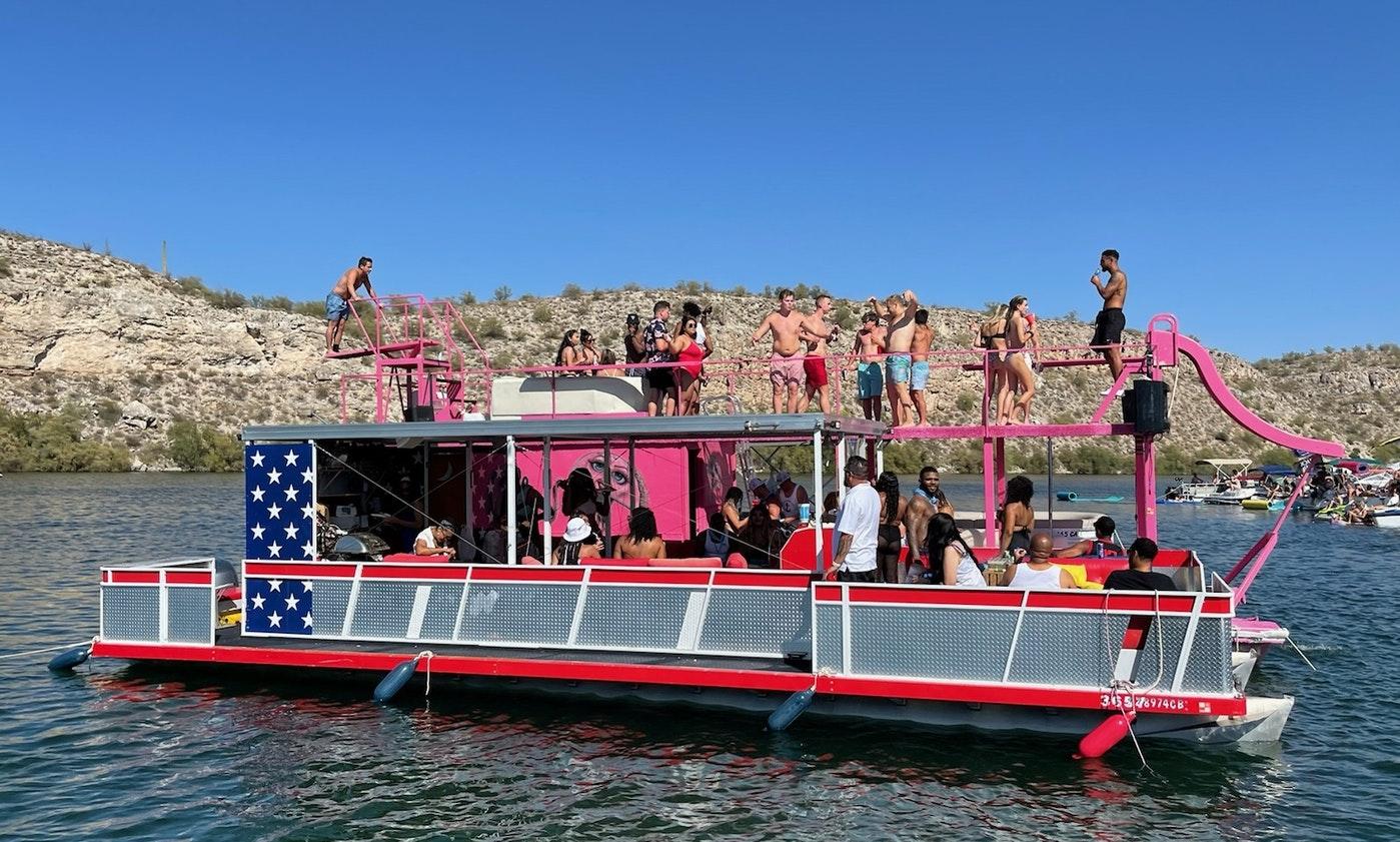 Large Group Party Barge On Lake Pleasant, Arizona
